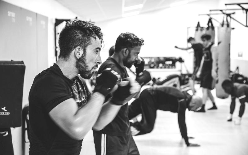 Entrainement de boxe anglaise au club RTC Marcoussis
